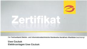 Zertifikat Fundamenterder